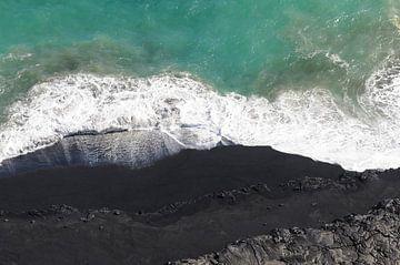 De lava kust in Hawaii