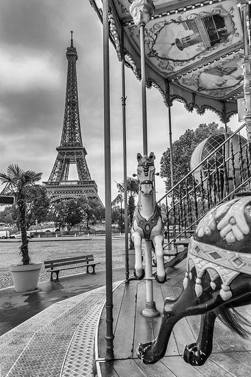 Typisch Parijs | Zwart-Wit van Melanie Viola