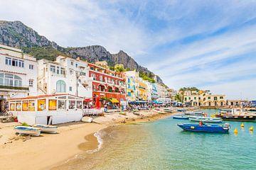 The harbour of the Italian Island Capri von Michiel Ton