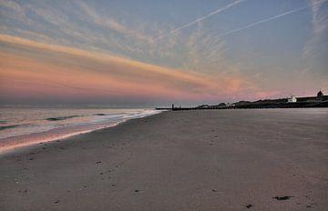 Fin de journée sur la plage de Zoutelande sur