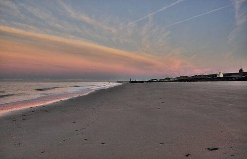 Einde van de dag op het strand van Zoutelande