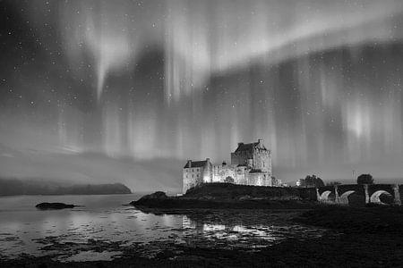 Eilean Donan Castle in Dornie Scotland, künstlerische traumlandschaft.