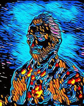 Vincent van Gogh  tekening bewerkt van Jose Lok