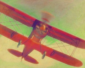 Peinture d'un Gloster Gladiator de l'année 1934 sur Jan Keteleer