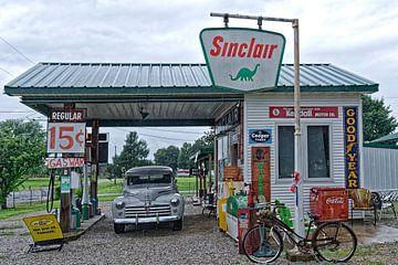 Tankstation op Route 66 van Tilly Meijer