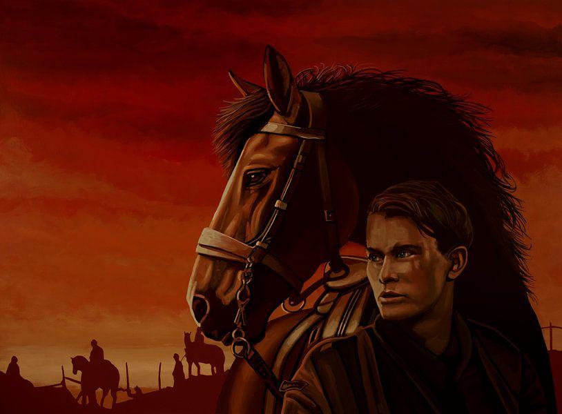 War Horse Joey en Albert Schilderij van Paul Meijering