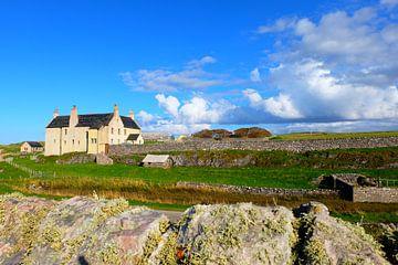 Schotland, landhuis aan de kust bij Faraid Head (Durness) von Marian Klerx