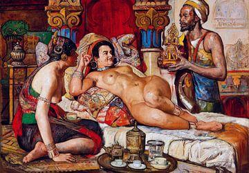 Nackt in Harem-Szene, Gyula Tornai von Atelier Liesjes