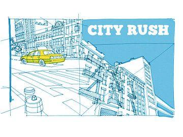 Stadt Rush von Maarten Schets