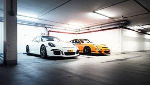 Porsche GT3 - GT3 RS parkeergarage