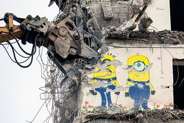 Graffiti, Minions sur Evert Jan Luchies
