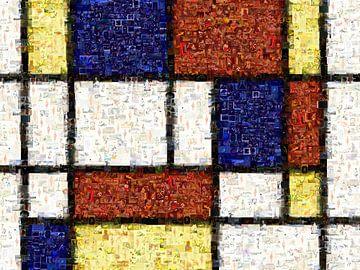 Mondrian inspiriertes Mosaik von Atelier Liesjes