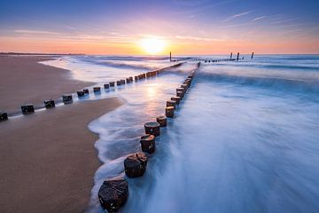 Sunset Wave van Harold van den Berge