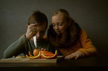 Die orangenen Esser von Mirella Lukens