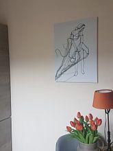 Klantfoto: 'Wondering Girl' (gezien bij vtwonen) van Kim Rijntjes, op canvas