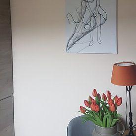 """Photo de nos clients: """"Miracle Girl sur Kim Rijntjes, sur toile"""