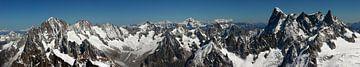Panorama van de Alpen van Jc Poirot