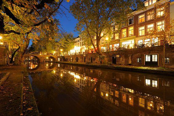 Oudegracht in Utrecht tussen Gaardbrug en Hamburgerbrug