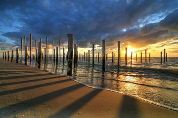 Palendorp Petten bei Sonnenuntergang von FotoBob
