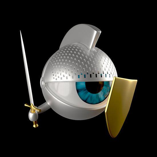 Ritter-Auge mit Schwert und Schild
