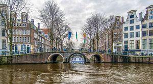 Grachten van Amsterdam: rondvaart boot Herengracht  Leidsegracht