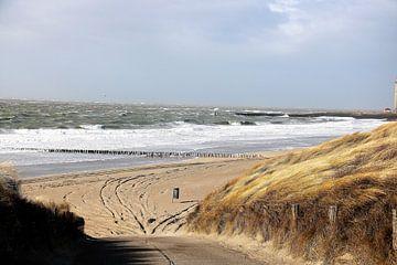 Storm aan zee in Westkapelle van Wendy Hilberath