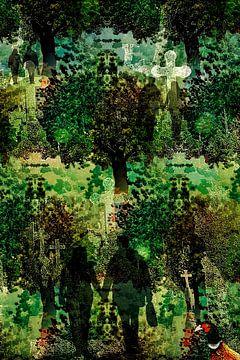 Wald, Friedhof, Menschen
