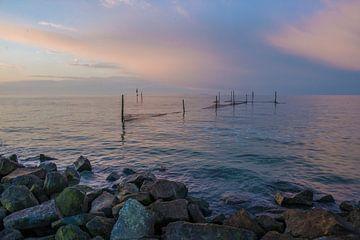 Zonsondergang langs het IJsselmeer von Marcel Klootwijk