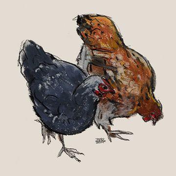 Kippen von Pieter Hogenbirk