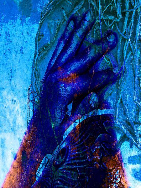 The blue hand van Gabi Hampe