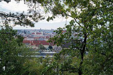Blick vom Letna Park auf die Altstadt von Prag von Heiko Kueverling