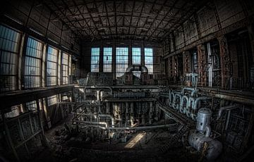 Verlaten energiecentrale 5 van