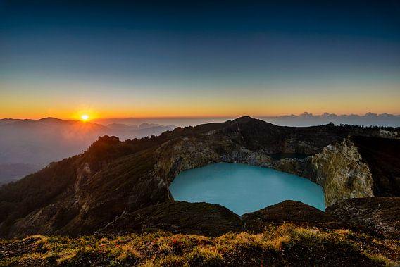 Gunung Kelimutu van Peter Vruggink