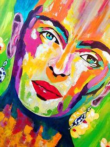 Frida Kalo Living van Kathleen Artist Fine Art