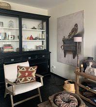 Kundenfoto: Der Distelfink von Carel Fabritius, auf leinwand
