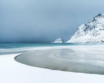 Het strand van Haukland van Nando Harmsen