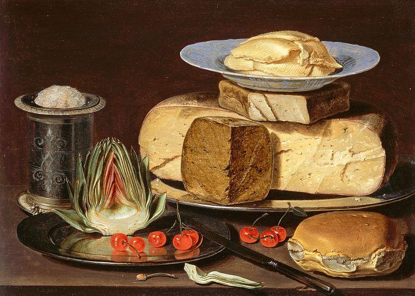 Stillleben mit Käse, Clara Peeters von 1000 Schilderijen