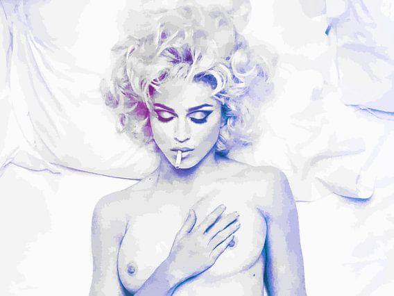 Im Bett mit Madonna abstrakt