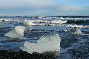 ijs op het strand