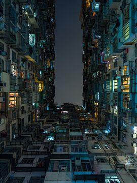 Appartementencomplex in Quarry Bay, Hong Kong van Teun Janssen