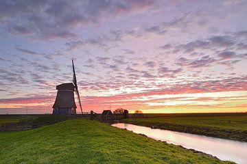 Moulin au lever du soleil sur John Leeninga