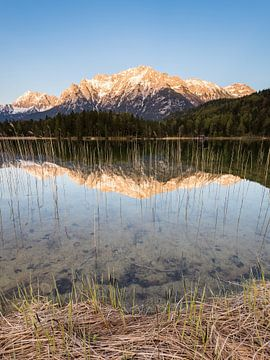 Alpenglühen am Lautersee von Michael Valjak