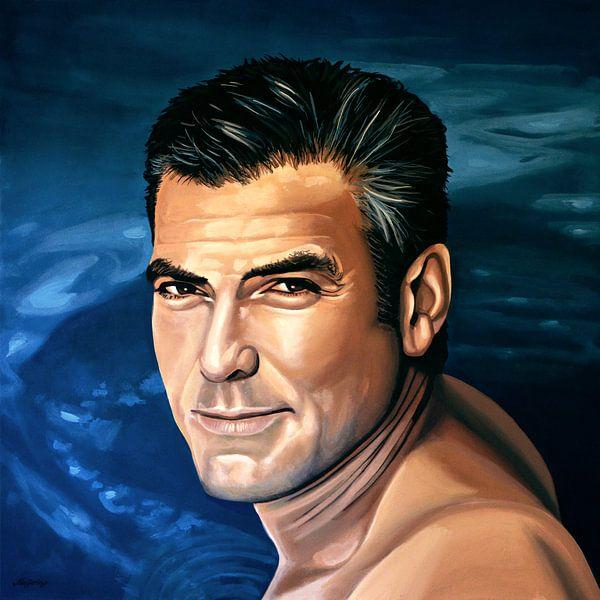 George Clooney  Schilderij 2 van Paul Meijering