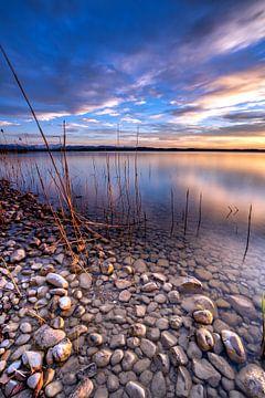 Coucher de soleil sur le lac Starnberg sur Einhorn Fotografie