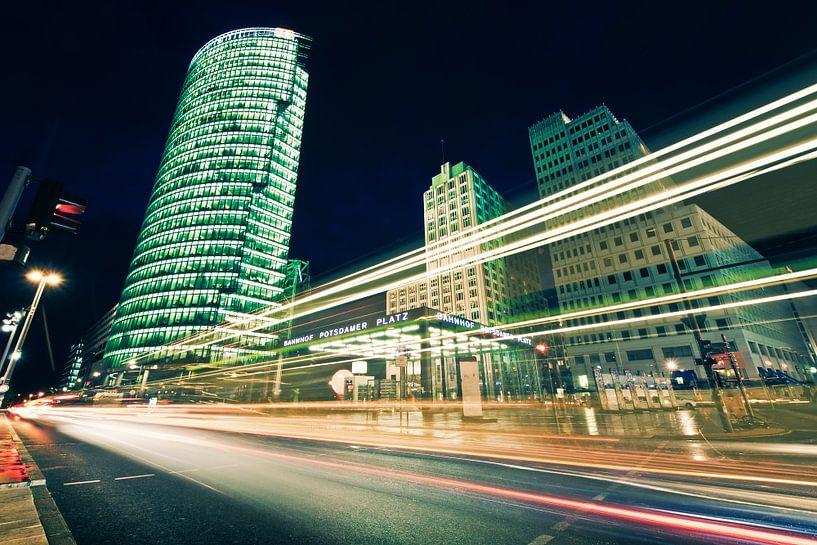 Berlin - Potsdamer Platz at Night van Alexander Voss