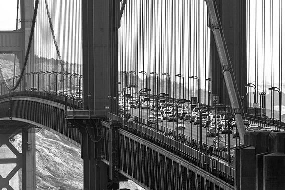 Traffic on the Golden Gate Bridge - USA