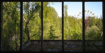 Reuzenrad in Tsjernobyl. van Roman Robroek