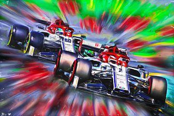 Teammates 2019 -  Räikkönen & Giovinazzi van Jean-Louis Glineur alias DeVerviers