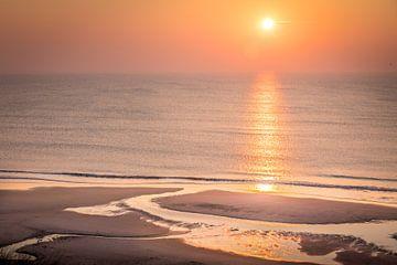 Zonsondergang op het strand van Kampen, Sylt van Christian Müringer