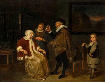 Auprès du patient, Quiringh van Brekelenkam sur
